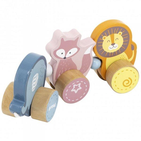 Drewniana zabawka zwierzątka do ciągnięcia - Viga Toys