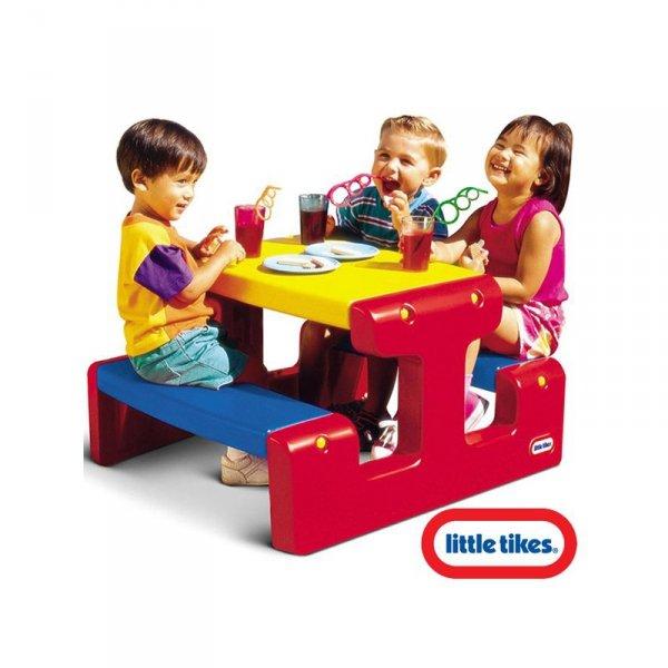 Little tikes Stół - Stolik piknikowy czerwono żółto niebieski