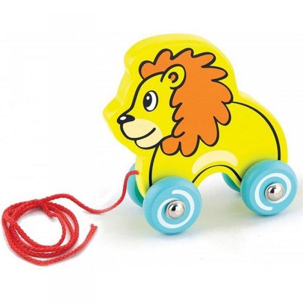 Drewniany lew do ciągnięcia Na sznurku - Viga Toys