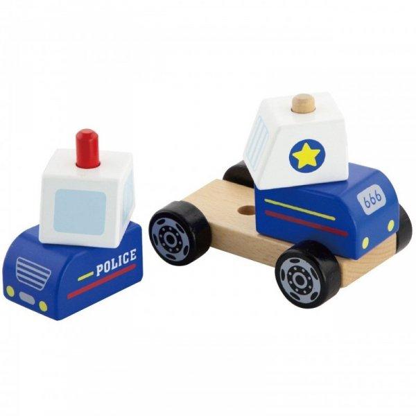 Drewniany Wóż Policyjny dla najmłodszych - Viga Toys