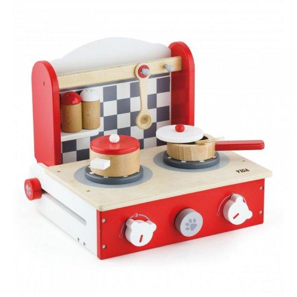Drewniana rozkładana Kuchnia z blatem do gotowania - Viga Toys
