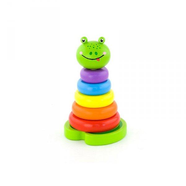 Edukacyjna Zabawka Drewniana Piramidka Nauka Kolorów - Viga Toys