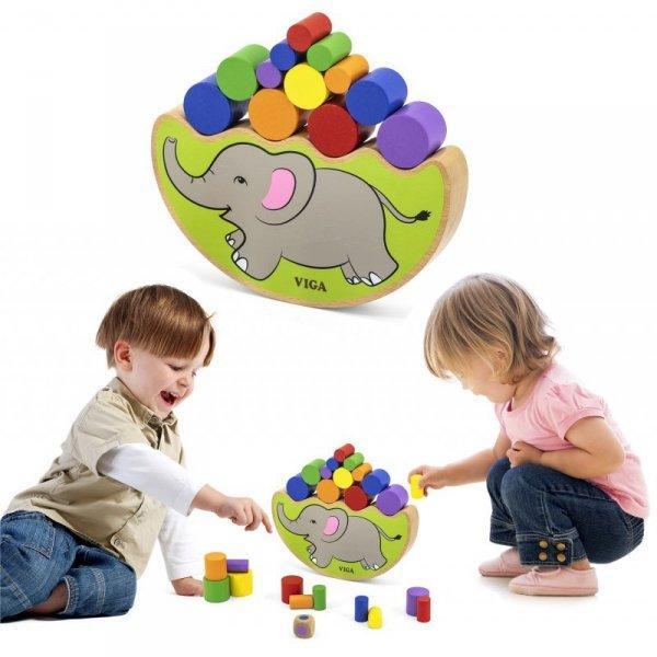 Drewniana układanka Balansujący Słoń  - Viga Toys