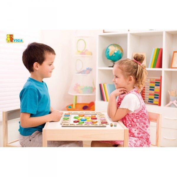 Gra Planszowa Drewniana - Wyścig Zwierzątek - Viga Toys
