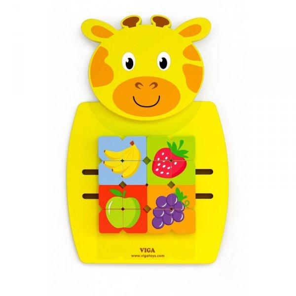Drewniana Sensoryczna Tablica manipulacyjna Żyrafa - Viga Toys