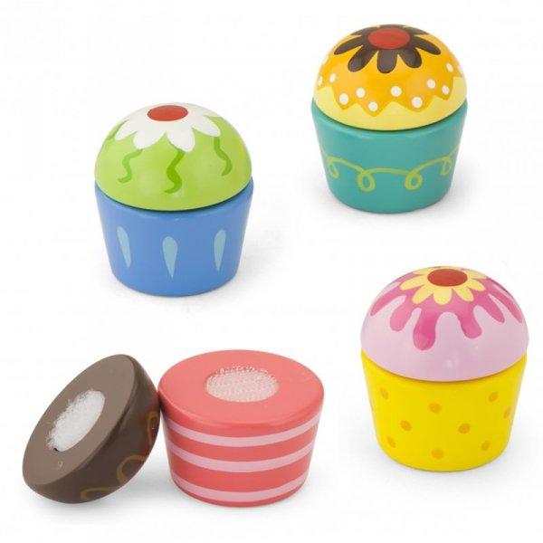 Drewniane Ciasteczka Babeczki  4szt - Viga Toys