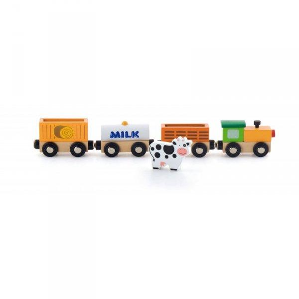 Zestaw akcesoriów do kolejki - pociąg rolniczy - Viga Toys