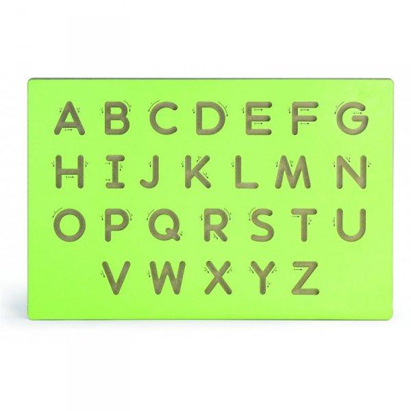 Nauka Pisania Wielkie Litery Szablon Do Tablicy Drewnianej - Viga Toys