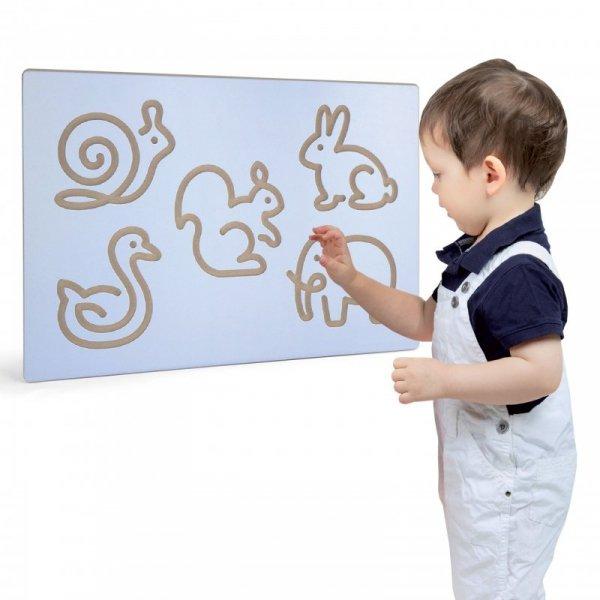Rysowanie Zwierzątek Tablica Edukacyjna Szablon - Viga Toys