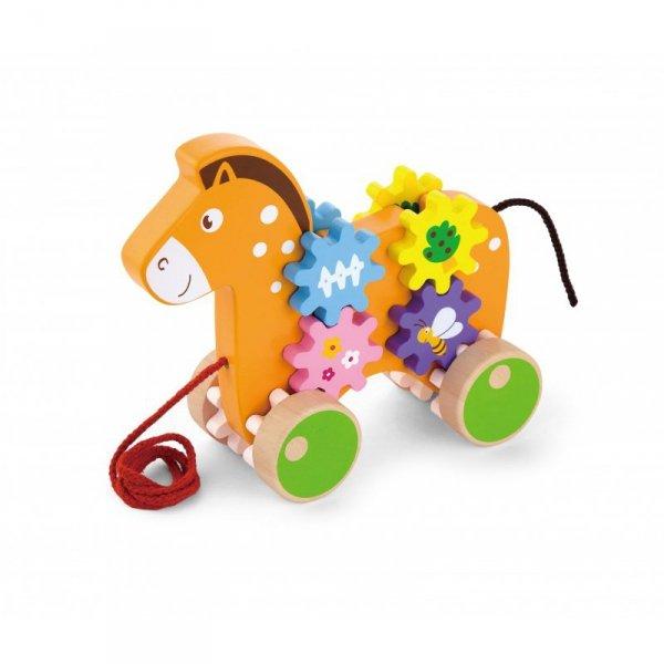 Drewniany Konik Do Ciągnięcia  - Viga Toys