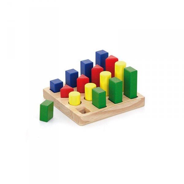 Klocki Drewniane Nauka Kształtów Kolorów - Viga Toys