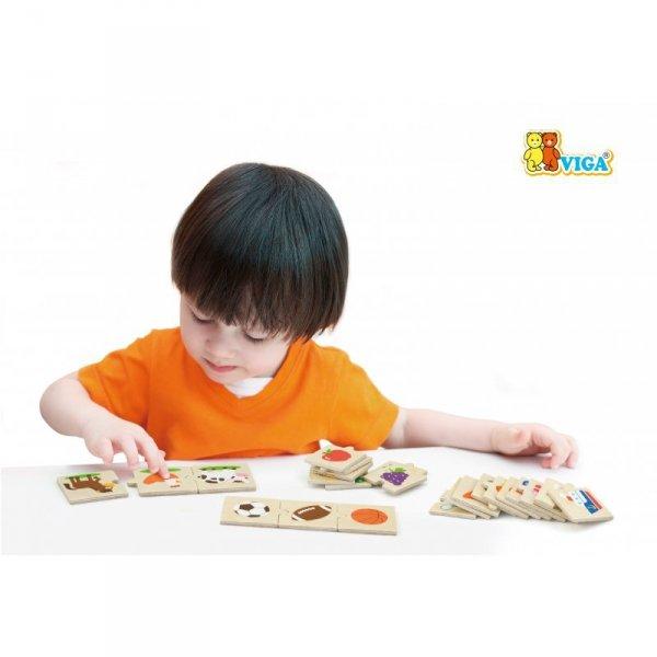 Drewniane Puzzle Logiczne - 24 Elementy - Viga Toys