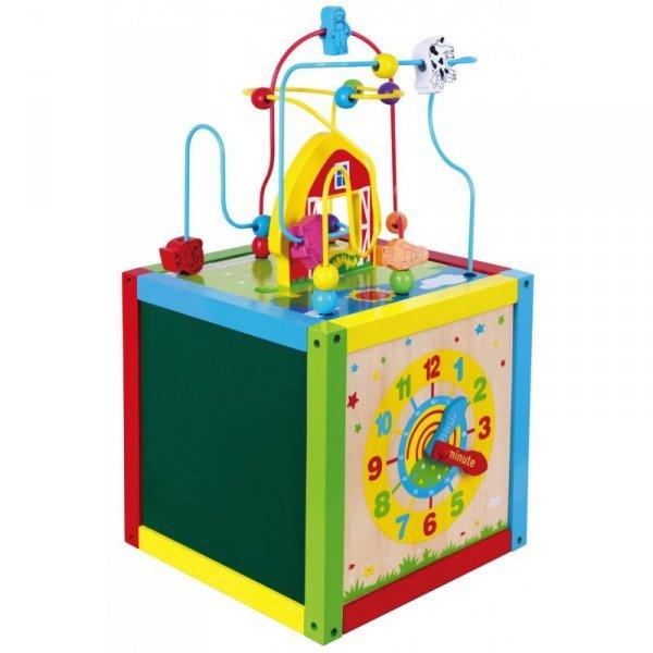 Drewniana Edukacyjna kostka Sześcian 5w1 - Viga Toys
