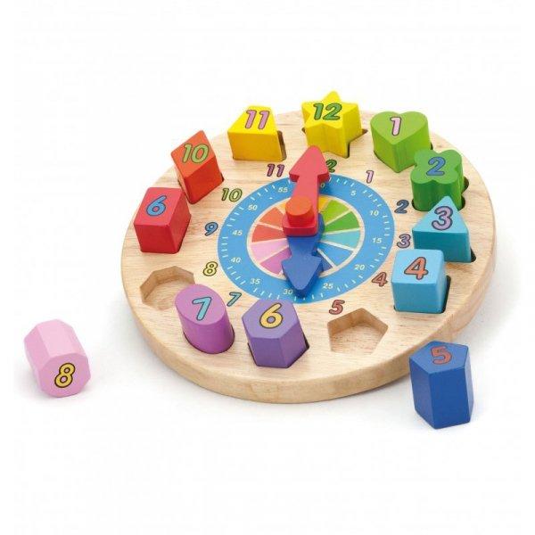 Edukacyjny Zegar z sorterem - Viga Toys