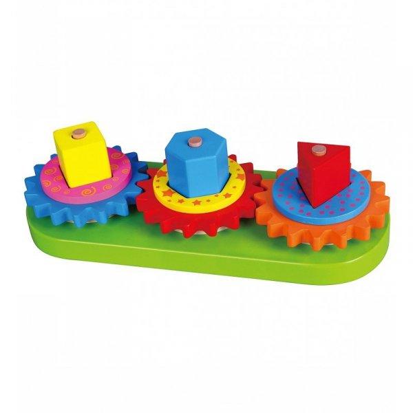 Drewniany Edukacyjny Sorter Kształtów Kolorów i Wzorów - Viga Toys