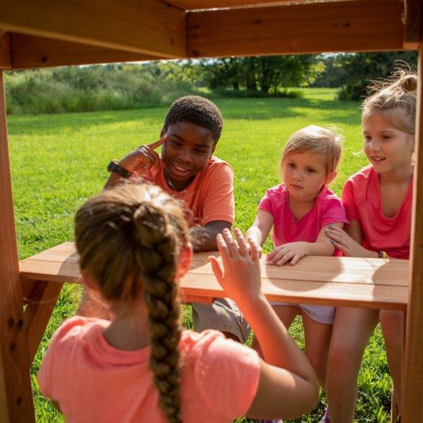 Backyard Discovery Belmont drewniany plac zabaw 6w1 + Stolik gratis!