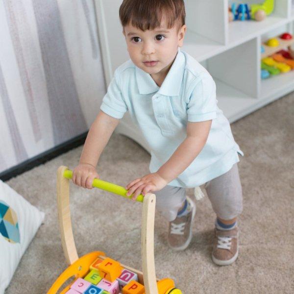 Chodzik Pchacz Dla Dzieci Z Klockami - CLASSIC WORLD