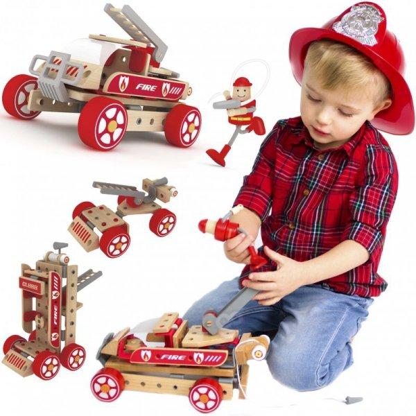 Klocki Konstrukcyjne Wóz Strażacki Samochód - Classic World