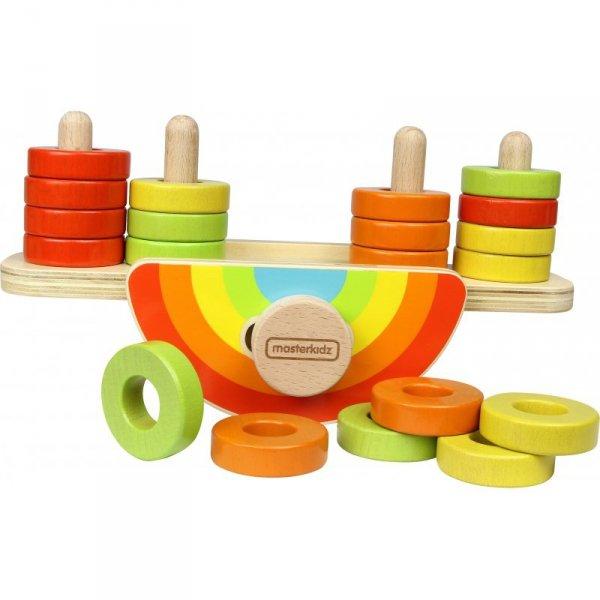 Drewniana Tęcza Do Balansowania Sorter Kolorów - Masterkidz