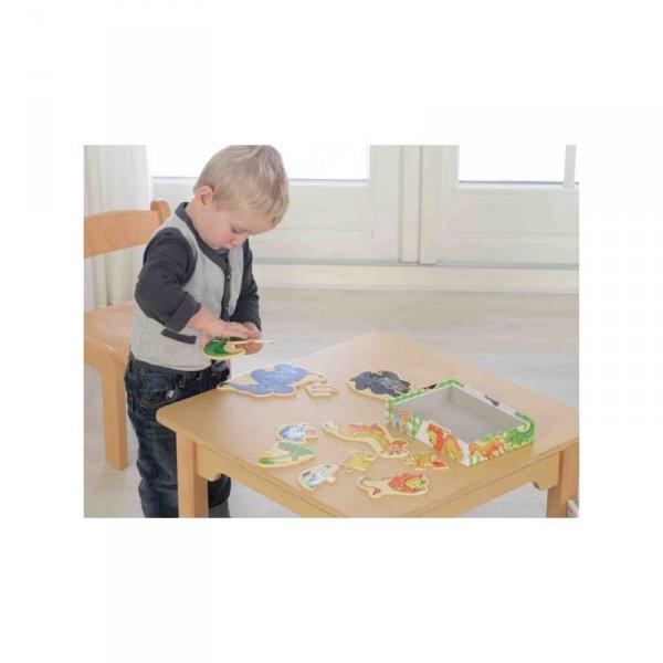 Drewniane Puzzle Zwierzątka - MASTERKIDZ