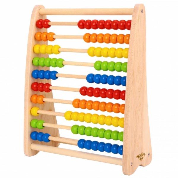 Duże Drewaniane Liczydło Edukacyjne Kolorowe - TOOKY TOY