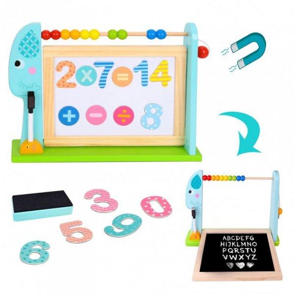 Edukacyjna Tablica Na Biurko + 18 magnetycznych elementów - TOOKY TOY