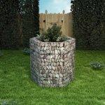 Podwyższona donica gabionowa, sześciokąta, 100 x 90 x 100 cm