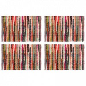 Maty na stół, 4 szt., Chindi, gładkie, wielokolorowe, 30x45 cm