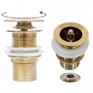 Korek klik-klak bez funkcji przelewu, złoty, 6,4x6,4x9,1 cm