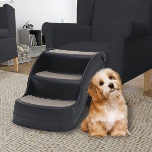 Składane, 3-stopniowe schodki dla psa, czarne