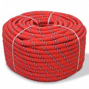 Linka żeglarska z polipropylenu, 6 mm, 100 m, czerwona