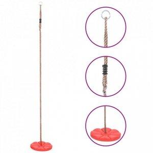 Huśtawka-dysk, 200 cm, czerwona