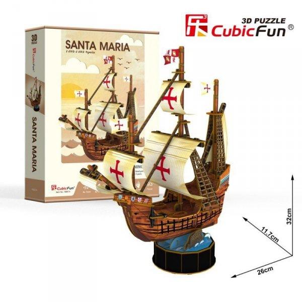 Cubic Fun Puzzle 3D Żaglowiec Santa Maria 93 elementy