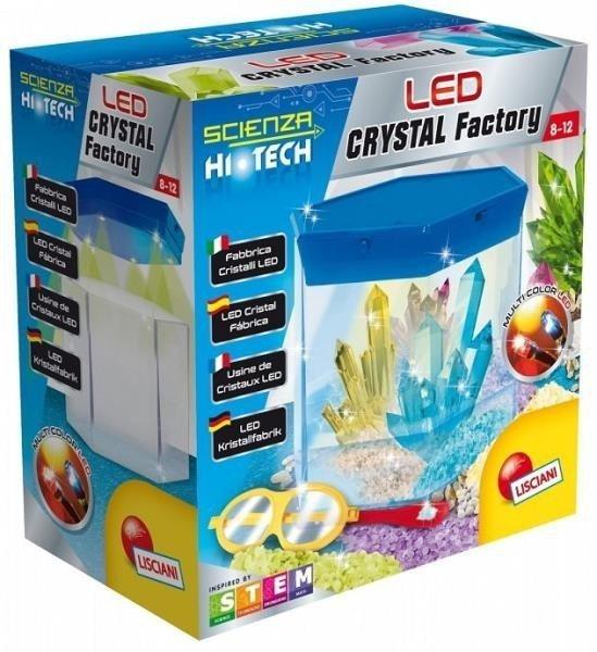 Lisciani Zestaw naukowy Hi-Tech Fabryka kryształów LED