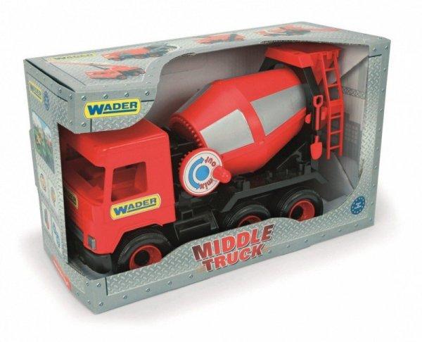 Betoniarka czerwona 38 cm Middle Truck w kartonie