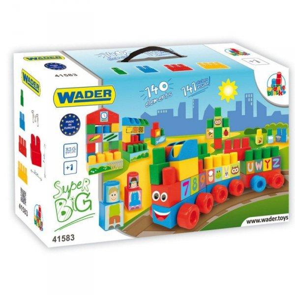 Wader Klocki Middle Blocks 140 elementów Super big