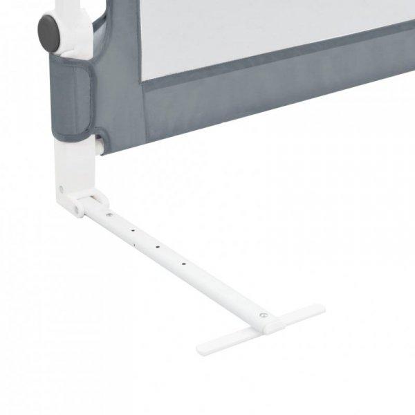 Barierka do łóżeczka dziecięcego, szara, 150x42 cm, poliester