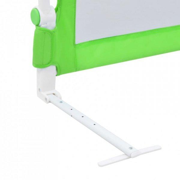 Barierka do łóżeczka dziecięcego, zielona, 180x42 cm, poliester