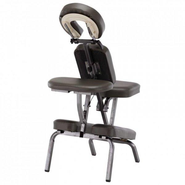 Fotel do masażu, sztuczna skóra, antracytowy, 122x81x48 cm