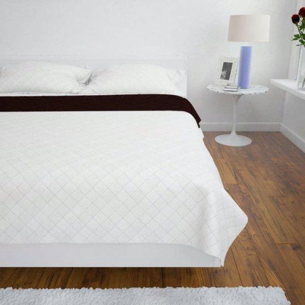 Dwustronna pikowana narzuta na łóżko Beż/Brąz 230 x 260 cm
