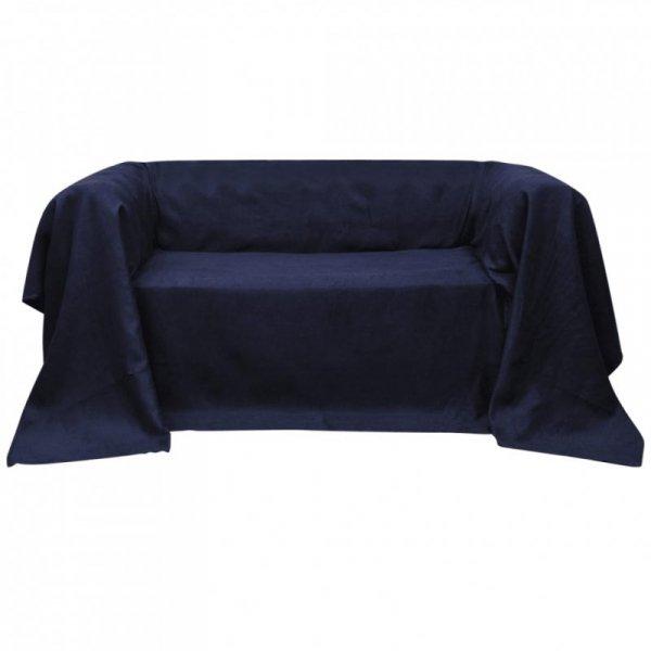 Pokrowiec/Narzuta na kanapę micro zamsz granat 140 x 210 cm