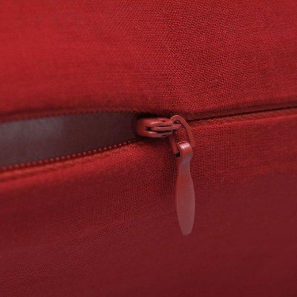4 Czerwone bawełniane poszewki na poduszki 80 x 80 cm
