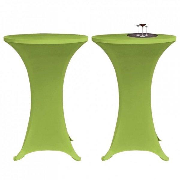 Elastyczne nakrycie stołu zielone 70 cm 2 szt.