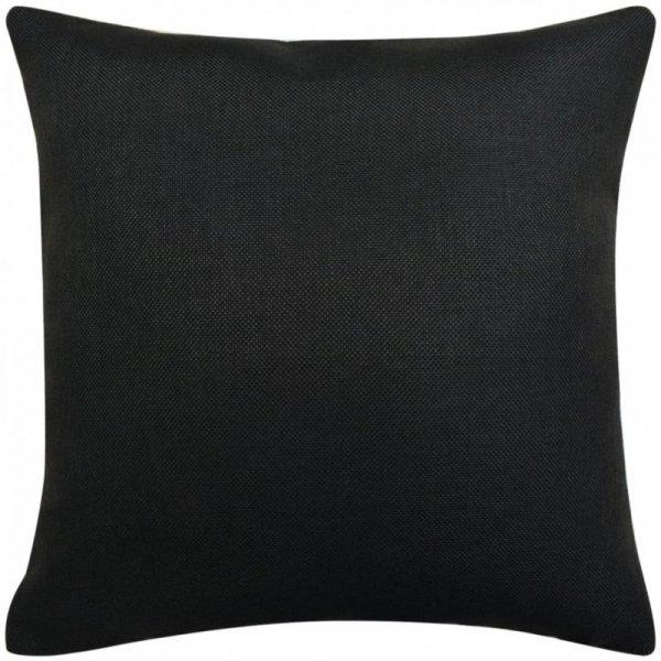 Poszewki na poduszki 4 szt. lniane, czarne 80x80 cm