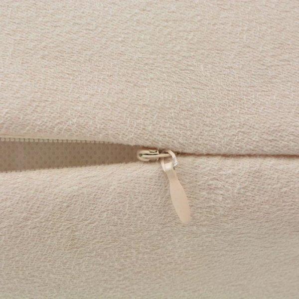 Poszewki na poduszki 50x50 cm, zamszowe, 4 szt., beżowe
