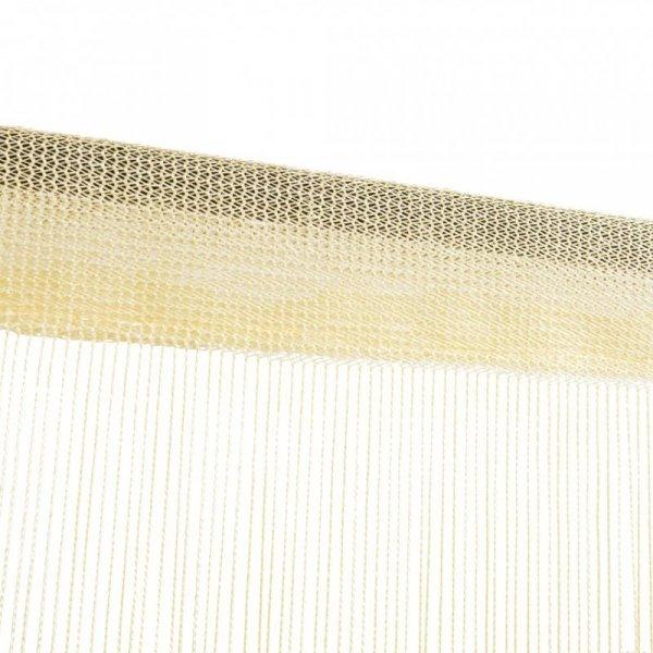 Zasłony sznurkowe, 2 sztuki, 100 x 250 cm, kremowe