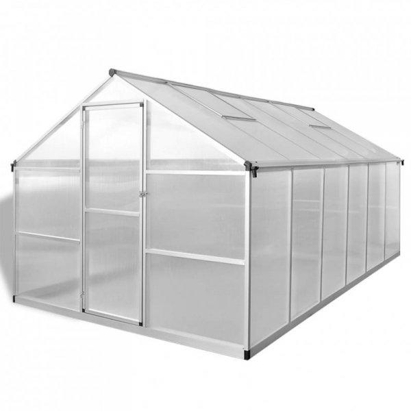 Szklarnia ogrodowa ze wzmacnianą, aluminiową ramą, 9,025 m²