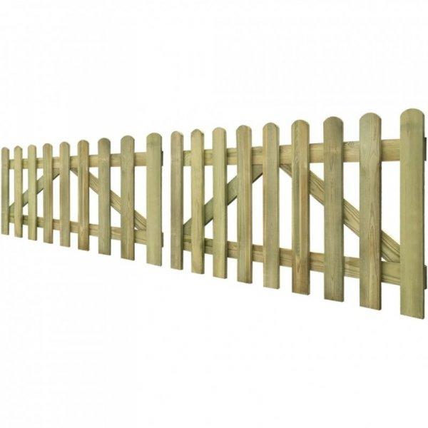 Brama do płotu, 2 elementy, impregnowane drewno, 300x80 cm