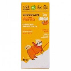 Czekolada karmel z solą bezglutenowa Super Fudgio BIO, 50g