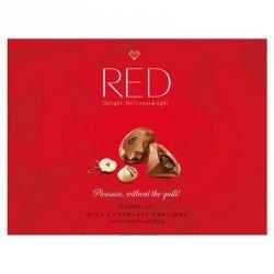 Praliny z mlecznej czekolady z nadzieniem orzechowym 35% mniej kalorii RED Delight, 132g